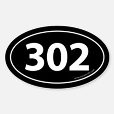 302 Auto Bumper Oval Decal -Black Decal