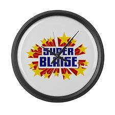 Blaise the Super Hero Large Wall Clock