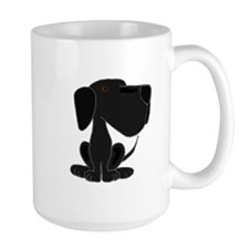 Funky Black LOabrador Dog Cartoon Mug