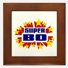 Bo the Super Hero Framed Tile