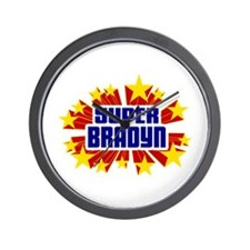 Bradyn the Super Hero Wall Clock