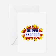 Brandon the Super Hero Greeting Card