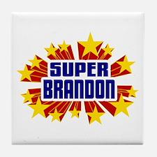 Brandon the Super Hero Tile Coaster