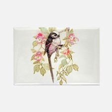 Long Tailed Tit Peter Bere Design Rectangle Magnet