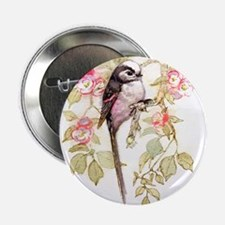 "Long Tailed Tit Peter Bere Design 2.25"" Button"