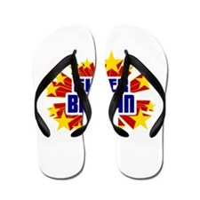 Brayan the Super Hero Flip Flops