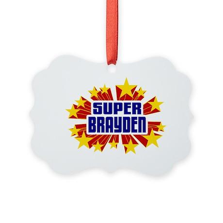 Brayden the Super Hero Ornament