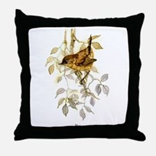 Wren Peter Bere Design Throw Pillow