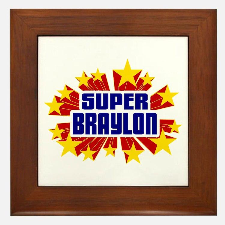 Braylon the Super Hero Framed Tile