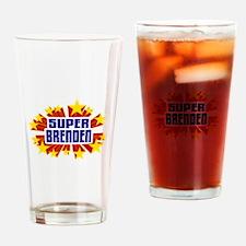 Brenden the Super Hero Drinking Glass