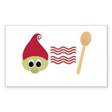 Red Troll Bacon Spoon Decal