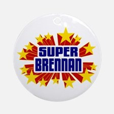 Brennan the Super Hero Ornament (Round)