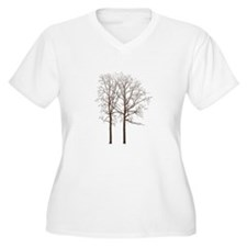Brown Trees Plus Size T-Shirt