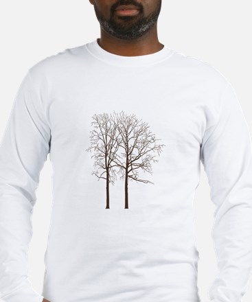 Brown Trees Long Sleeve T-Shirt
