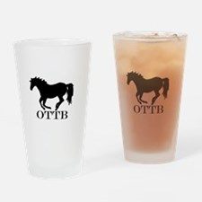 Off Track Thoroughbred Drinking Glass