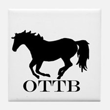 Off Track Thoroughbred Tile Coaster