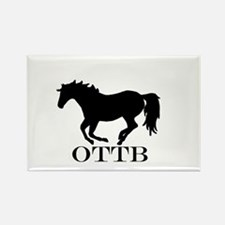 Off Track Thoroughbred Rectangle Magnet