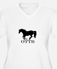 Off Track Thoroughbred Plus Size T-Shirt