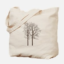 Brown Trees Tote Bag
