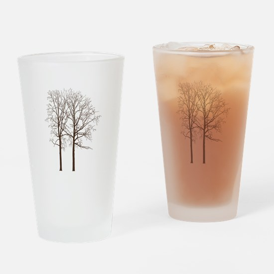 Brown Trees Drinking Glass