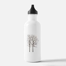 Brown Trees Water Bottle