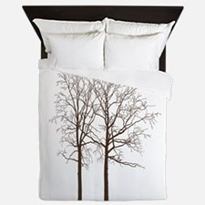 Brown Trees Queen Duvet