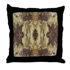 Leaves, Brown. Throw Pillow