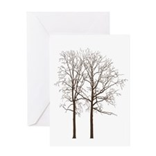 Brown Trees Greeting Card