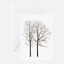 Brown Trees Greeting Card