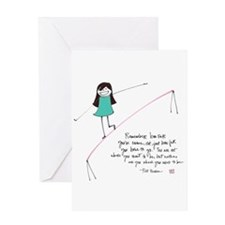 Its a Balancing Act Greeting Card