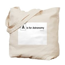 A is for Astronomy Tote Bag