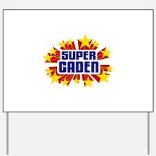 Caden the Super Hero Yard Sign