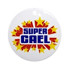 Cael the Super Hero Ornament (Round)