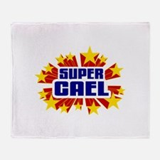 Cael the Super Hero Throw Blanket