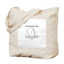 Bugeye Sailboat (line art) Tote Bag