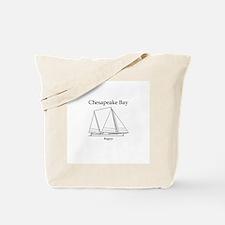 Bugeye Sailboat (line art) Tote Bag