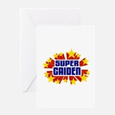 Caiden the Super Hero Greeting Card