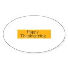 Happy Thanksgiving Oval Decal