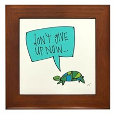 Turtle of Perseverance Framed Tile
