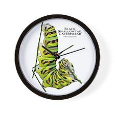 Black Swallowtail Caterpillar Wall Clock