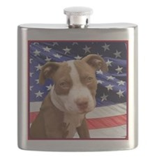 American pitbull puppy Flask