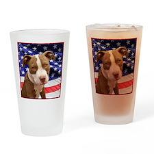 American pitbull puppy Drinking Glass