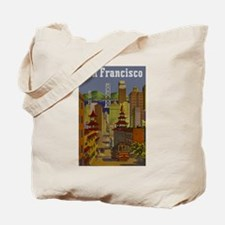 Vintage San Francisco Travel Tote Bag