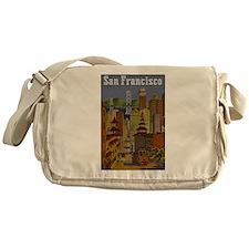 Vintage San Francisco Travel Messenger Bag