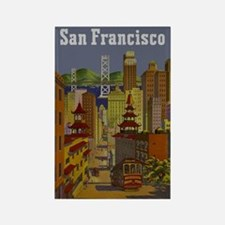 Vintage San Francisco Travel Rectangle Magnet