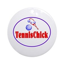 TennisChick Ornament (Round)