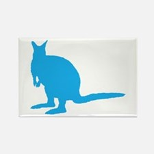 Blue Wallaby. Rectangle Magnet