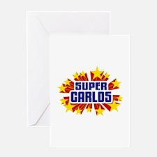Carlos the Super Hero Greeting Card