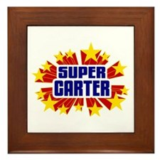 Carter the Super Hero Framed Tile