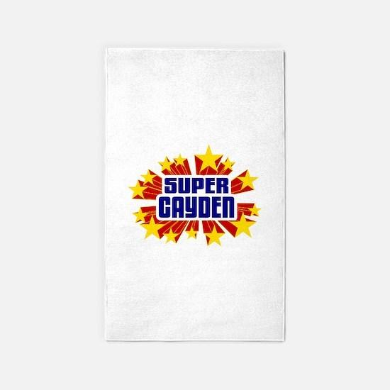 Cayden the Super Hero 3'x5' Area Rug